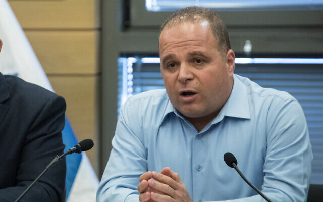 Ashkelon Mayor Tomer Glam during a meeting with at the Kneeset in Jerusalem on November 18, 2019. (Hadas Parush/Flash90)
