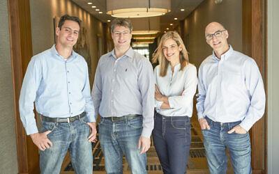 Sunbit co-founders right to left: Prof. Tamir Hazan, Oranit Maizel, Tal Riesenfeld and Arad Levertov (Courtesy)