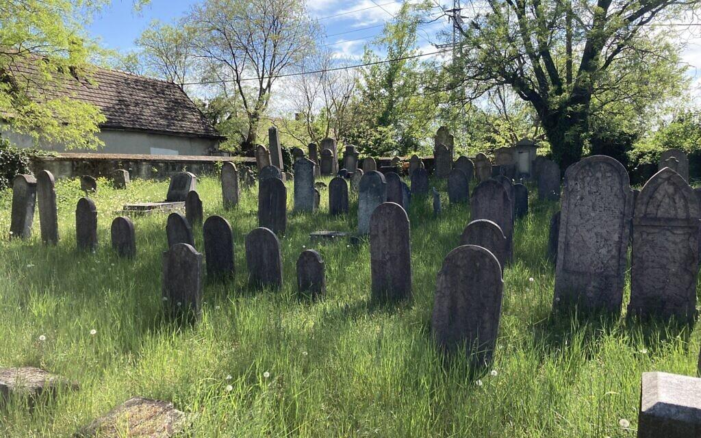 The ancient Jewish cemetery in Nagyteteny, May 11, 2021. (Yaakov Schwartz/ Times of Israel)