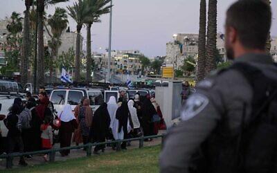 Police make preparations amid tensions in Jerusalem for the last weekend of Ramadan, May 7, 2021 (Israel Police)