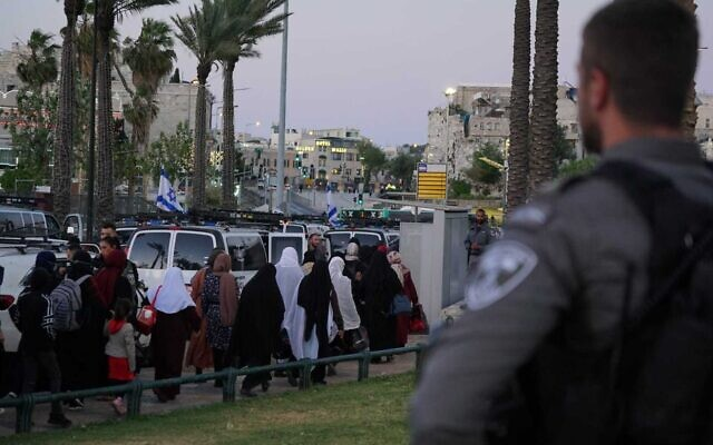 Police make preparations amid tensions in Jerusalem for the last weekend of Ramadan, May 7, 2021 (Israel Police)