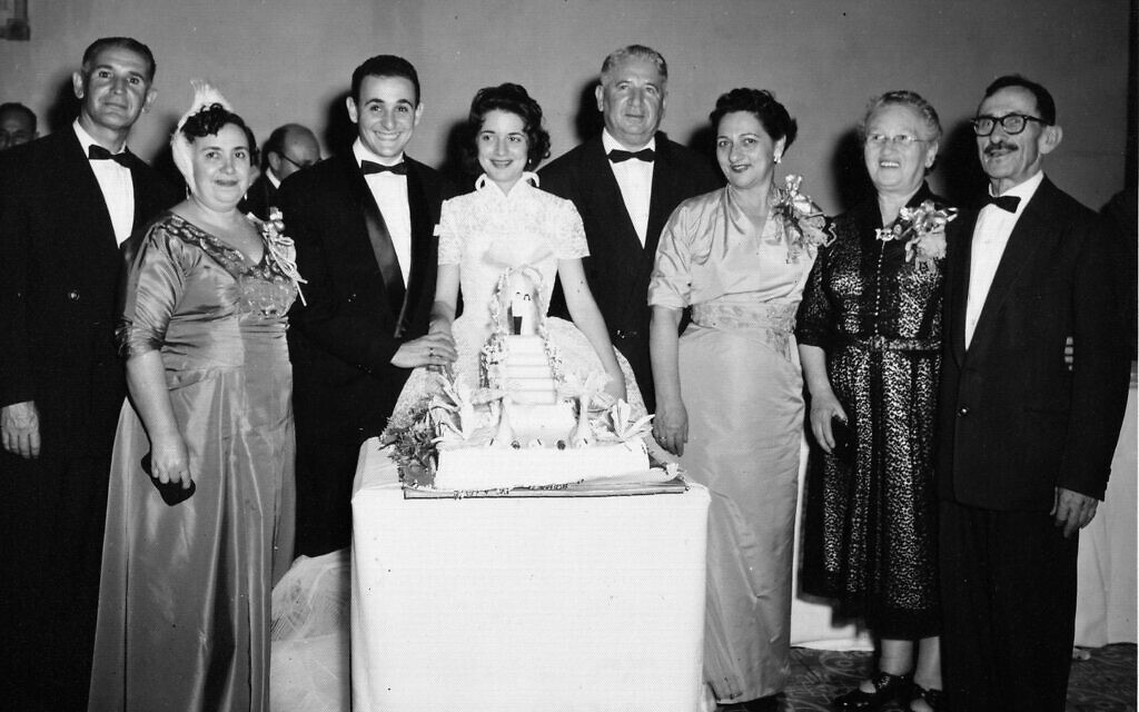 Ruth Behar's parents' wedding in Havana in 1956, with her Sephardic grandparents on the left and her Ashkenazi grandparents and great-grandparents on the right. (Courtesy)