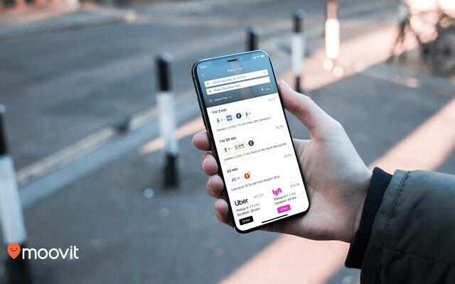 An illustration of the Moovit app (Courtesy)