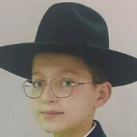 Moshe Levy, 14, who was killed in the crush at Meron (courtesy)