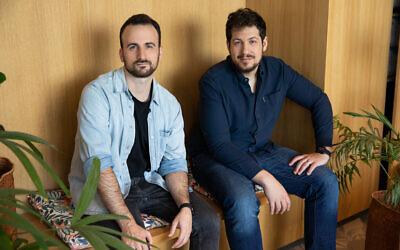 Ron Gura, left, and Yonatan Bergman, the co-founders of the Israeli-US startup Empathy (Courtesy)