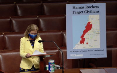 Rep. Debbie Wasserman Shultz speaks from the House Floor on May 13, 2021. (Screen capture/US House of Representatives)