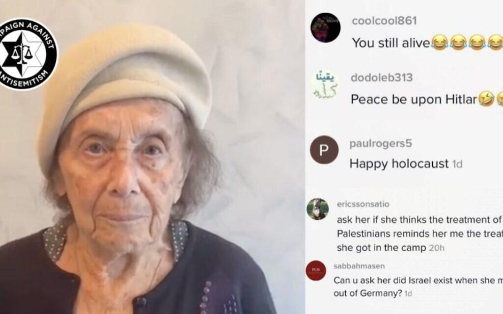 Holocaust survivor wishes <b>TikTok</b> Shabbat Shalom, gets hit with antisemitic hate thumbnail