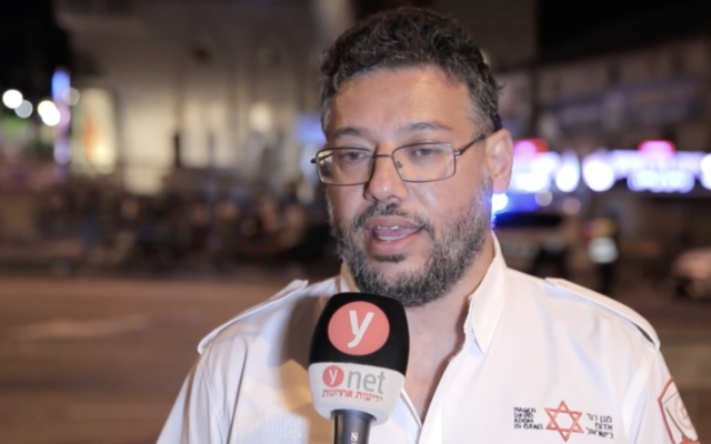 Dr. Roi Babila recounts the experience of identifying 39 bodies in the Mount Meron disaster, in an interview on May 2, 2021. (Screen capture: Ynet)