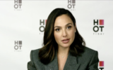 Gal Gadot in an interview with Channel 12 News on May 9, 2021. (Screen capture: Channel 12 News).