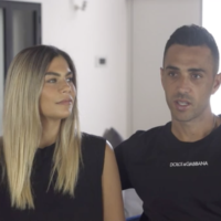 Eran Zahavi and his wife, Shay, in a video posted on May 9 2021. (Screen capture: Channel 12 News)