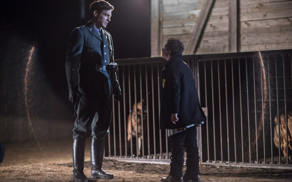 Ken Duken as 'Ralph' (left) and August Maturo as 'Joshua' in 'Shepherd: The Story of a Jewish Dog' (JDog Films)