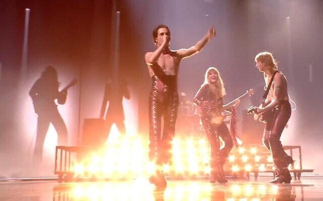 Italy's Maneskin wins Eurovision 2021 (Screenshot)