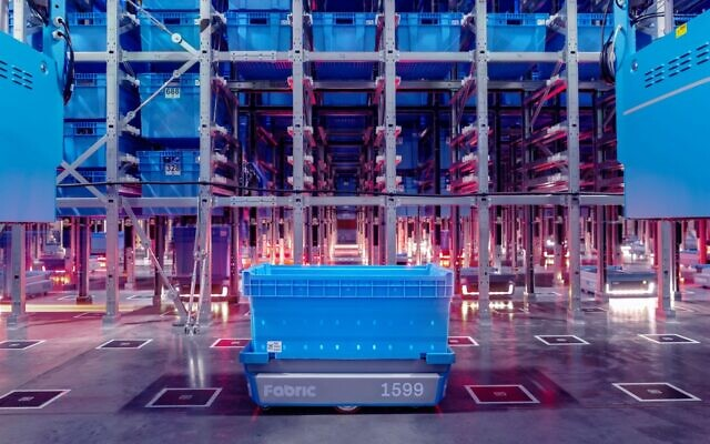 An illustration of Fabric's, formerly CommonSense Robotics, micro-fulfillment centers (Courtesy