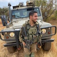 Staff Sgt. Omer Tabib, 21, from the Nahal Infantry Brigade, who was killed when an anti-tank guided missile struck his jeep north of the Gaza Strip on May 12, 2021. (Israel Defense Forces)