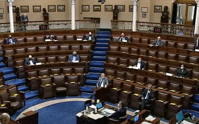Illustrative: Lawmakers in the Dail, the lower house of Ireland's parliament, in 2020 (video screenshot)
