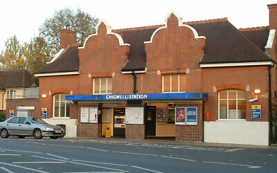 A train station in Chigwell, a London-area town where a rabbi was beaten amid antisemitic epithets. (Wikimedia Commons)