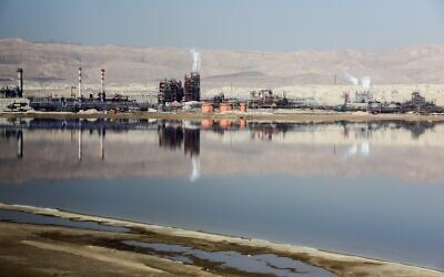 A view of the Dead Sea Works on February 2, 2018. (Issac Harari/Flash90)
