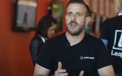 Explorium's co-founder Or Tamir (YouTube screenshot)