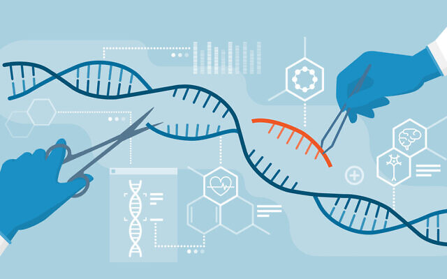 Scientists analyzing DNA helix and editing genome within organisms, CRISPR technology (elenabs via iStock by Getty Images)