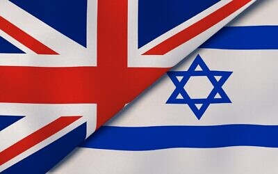 Illustrative image of UK's and Israel's national flags (Maksym Kapliuk; iStock by Getty Images)