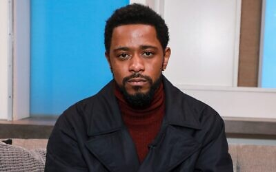 Lakeith Stanfield in New York City, Feb. 12, 2020. (Jason Mendez/Getty Images via JTA)