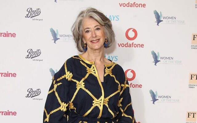 Maureen Lipman attends the Woman Of The Year Awards Lunch at Royal Lancaster Hotel in London, UK on Oct. 14, 2019. (Mike Marsland/WireImage via JTA)