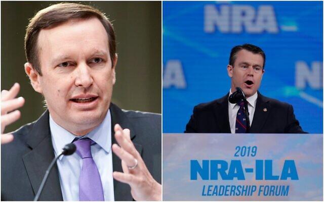 US Senators Chris Murphy (L) and Todd Young. (AP/collage)