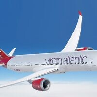 An illustration of a Virgin Atlantic plane (Courtesy)