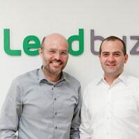 Lendbuzz co-founders. right to left,  Amitay Kalmar, CEO; Dr. Dan Raviv, CTO (Weifan Chen)