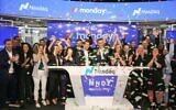 The team of monday.com opens trade on Nasdaq; June 10, 2021 (Nasdaq)