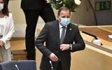 Sweden's Prime Minister Stefan Löfven arrives at the Swedish Parliment in Stockholm on June 21, 2021 (Claudio BRESCIANI / TT News Agency / AFP) / Sweden OUT