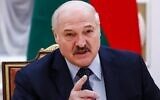 Belarusian President Alexander Lukashenko speaks during a meeting with Commonwealth of Independent States officials in Minsk on May 28, 2021. (Dmitry Astakhov/POOL/AFP)