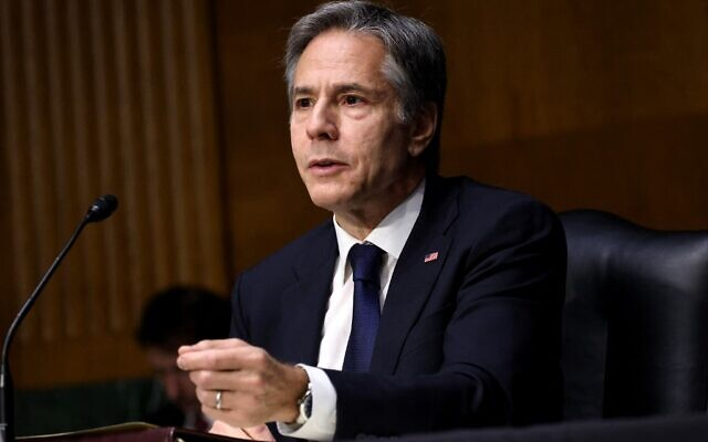 US Secretary of State Anthony Blinken testifies during a Senate Appropriations subcommittee hearing on the Department of State budget request, on June 8, 2021, in Washington, DC. (Kevin Dietsch/Getty Images/AFP)