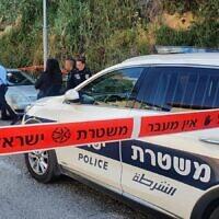 Illustrative -- Israel Police investigate scene of crime, June 2, 2021 (Israel Police)