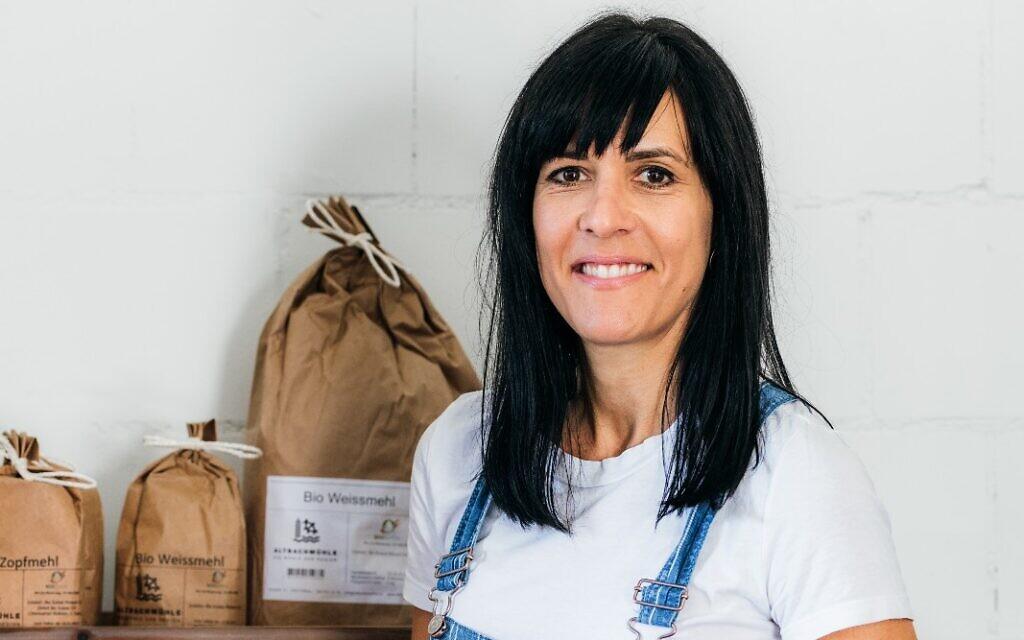 Swiss challah baker Katharina Arrigoni. (Courtesy/ via JTA)