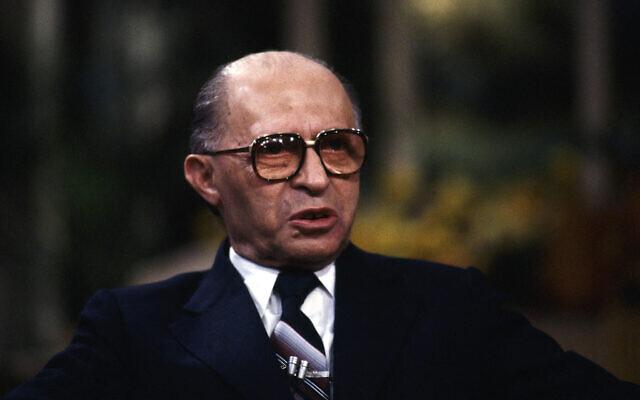 In this November 16, 1980 file photo, Israeli prime minister Menachem Begin as he appeared on the ABC program 'Good Morning America.' (AP Photo, File)