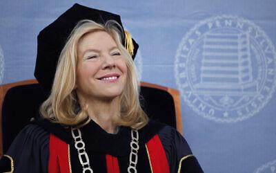 University of Pennsylvania President Amy Gutmann during commencement in Philadelphia, May 18, 2009. (AP Photo/Matt Rourke)