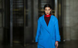 The Oscar De la Renta collection is modeled by Bella Hadid during Fashion Week, Monday, Feb. 10, 2020, in New York.(AP Photo/Eduardo Munoz Alvarez)