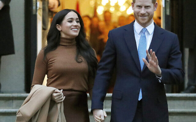 Prince Harry and Meghan, the Duke and Duchess of Sussex, leave after visiting Canada House on January 7, 2020, in London. (AP/Frank Augstein, File)