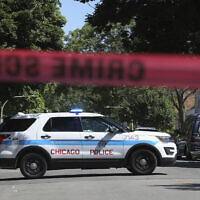 Illustrative: Police tape marks off a Chicago street as officers investigate the scene of a fatal shooting in the city's South Side on June 15, 2021. (AP Photo/Teresa Crawford)