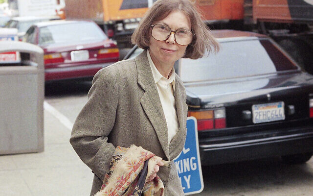 The New Yorker writer, Janet Malcolm, leaves the Federal Courthouse in San Francisco, California, on June 3, 1993. (AP/George Nikitin)