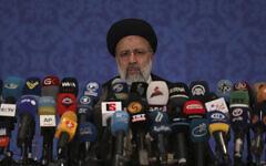 Iran's new President-elect Ebrahim Raisi speaks during a press conference in Tehran, Iran, June 21, 2021. (AP Photo/Vahid Salemi)