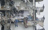 Part of a building is shown after a partial collapse, Thursday, June 24, 2021, in Surfside, Fla. (AP Photo/Wilfredo Lee)