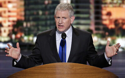 Robert Wexler, President of the S. Daniel Abraham Center for Middle East Peace and former Representative from Florida, addresses the Democratic National Convention in Charlotte, N.C., on Tuesday, Sept. 4, 2012. (AP/J. Scott Applewhite)