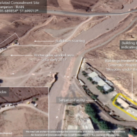 Vehicles seen at a site in Sanjarian, near Tehran, previously identified as an Iranian nuclear research site, in a satellite image from October 15, 2020. (The Intel Lab/Maxar)