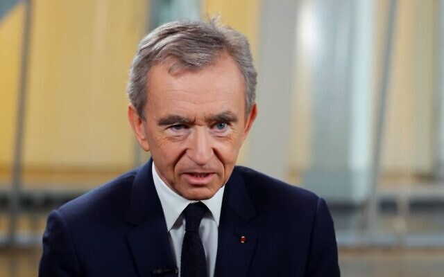 Bernard Arnault, the chairman and CEO of LMVH Moet Hennessy-Louis Vuitton. (YouTube screenshot)