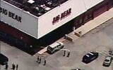 Screen capture from aerial video of police responding to a fatal shooting at a supermarket in Decatur, Georgia, June 14, 2021. (Twitter)