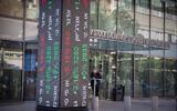 View of the Tel Aviv Stock Exchange. on November 29, 2020. (Miriam Alster/Flash90)