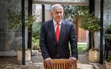 Then-Prime Minister Benjamin Netanyahu at his residence in Jerusalem, on March 18, 2021.(Yonatan Sindel/Flash90)
