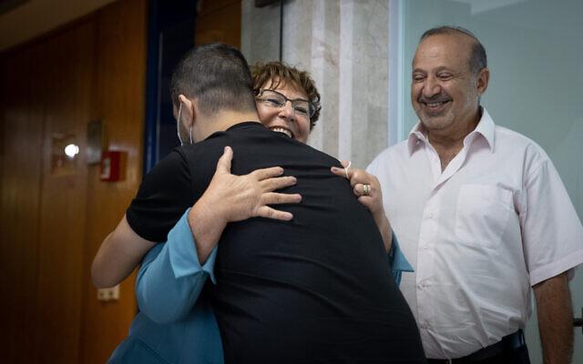 Presidential candidate Miriam Peretz seen at the Knesset on June 1, 2021 (Yonatan Sindel/Flash90)